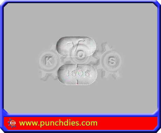V 3606 pill press dies set