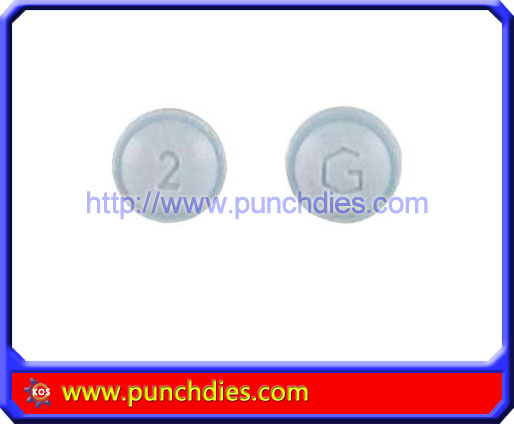 2 G pill press dies set