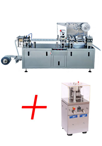 Blister packaging machine and tablet press